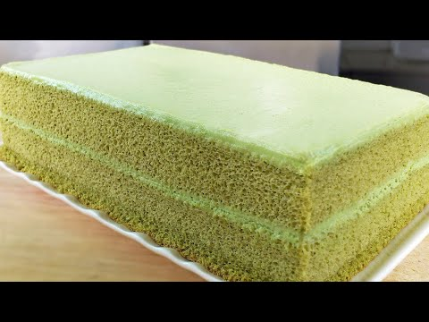 How to Make Green Tea (Matcha) Cake (抹茶蛋糕)