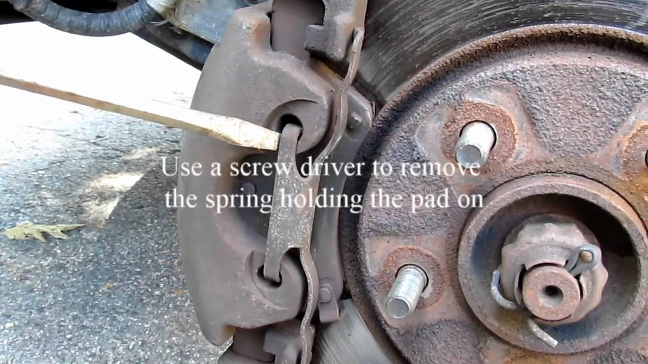 changing brake pads on a 2005 dodge grand caravan [ 1280 x 720 Pixel ]