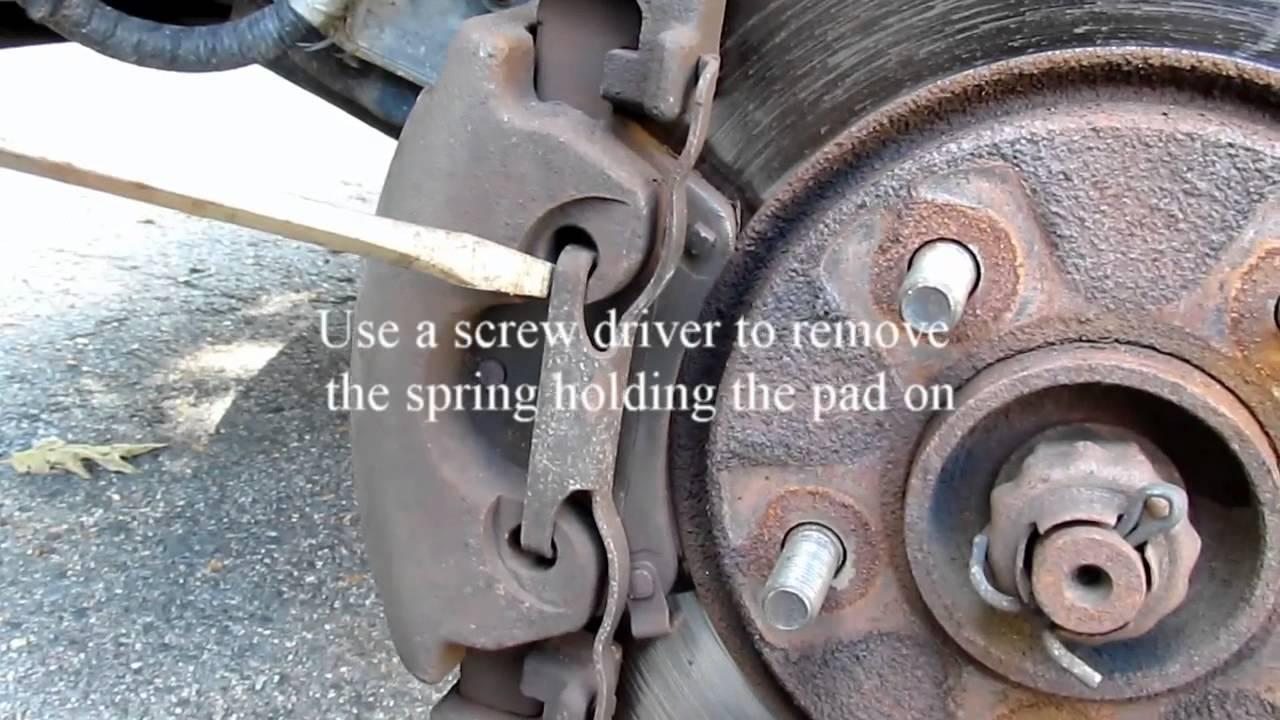 Changing Brake Pads on a 2005 Dodge Grand Caravan  YouTube