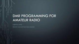 DMR Programming for Amateur Radio