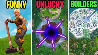 THE ISLAND BECOMES A PORTAL! FUNNY vs UNLUCKY vs BUILDERS - Fortnite Funny Moments
