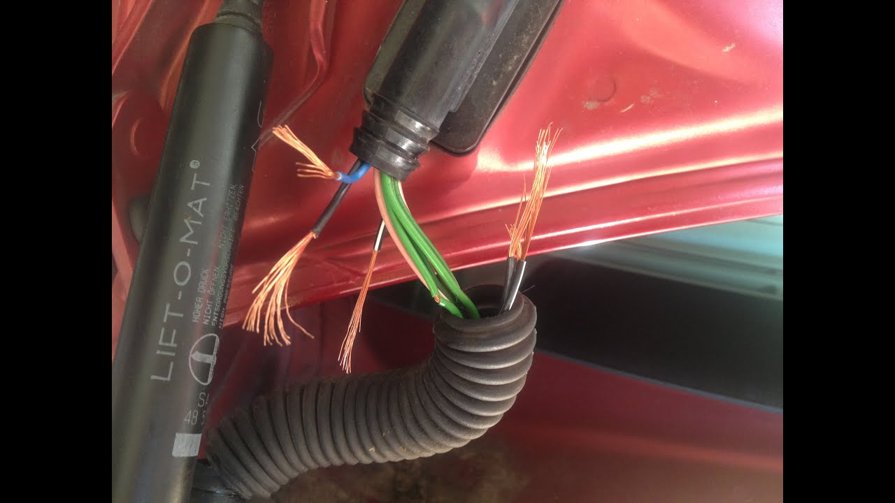 maxresdefault saab electrical wiring fix in trunk youtube truck wire harness at highcare.asia