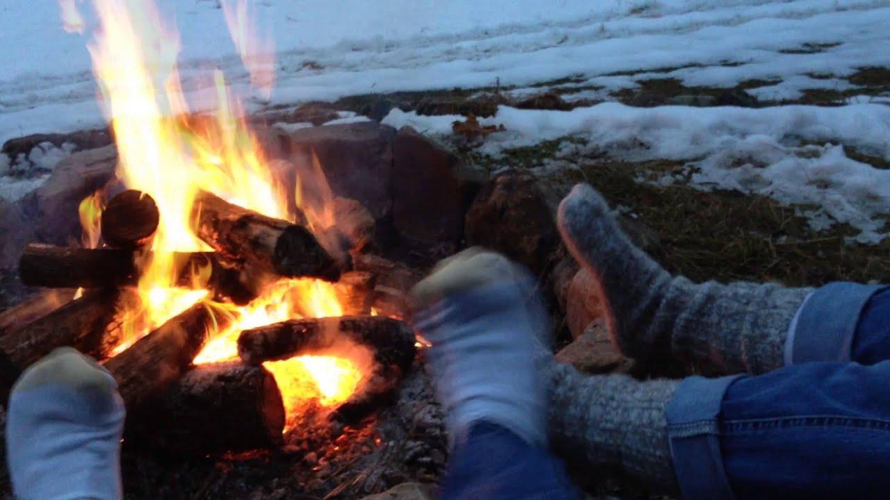 Campfire Footsie Snow Play At Hidden Hollows Youtube