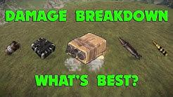 Rust - Damage Breakdown - Whats Best?