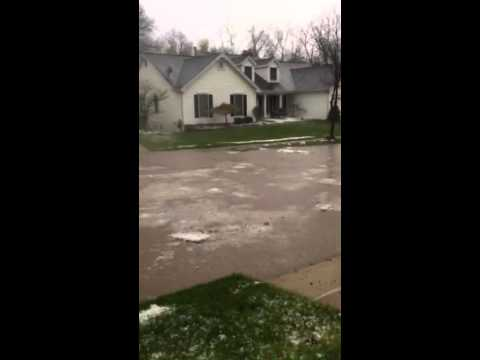 Hail n flood at wildwood ,MO