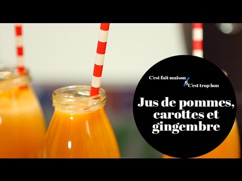 Jus de pommes, carottes et gingembre