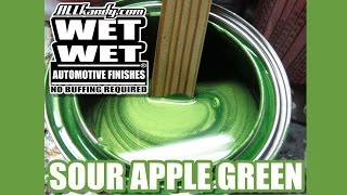 SOUR APPLE GREEN ...  COMPATIBLE TO CHEVY SYNERGY GREEN ... ALLKANDY FACTORY KOLOUR ..  VIDEO DEMO