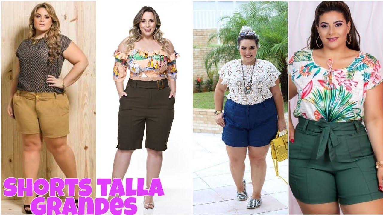 Shorts De Tallas Grandes Shorts De Mezclilla Para Mujer Talla Grande Pantalones Cortos De Mujer 2020 Youtube