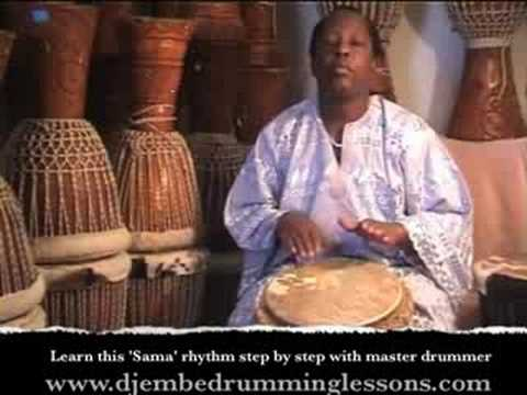 Djembe Drum Lesson. Learn 'Sama' Djembe Rhythm with Master Drummer ...