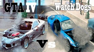 Watch Dogs Vs Grand Theft Auto 4 - Car Damage