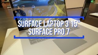 Hands On Surface Laptop 3 & Surface Pro 7 - First Impressions! Aluminum finish, Fast Charge, USB-C!