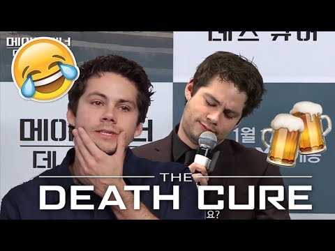 Dylan O'Brien being Drunk during Death Cure Press Tour Maze Runner 3