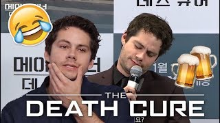 Dylan O'Brien being Drunk during Death Cure Press Tour (Maze Runner 3)