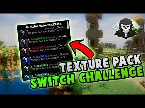 THE CHANGING TEXTURE PACKS CHALLENGE v2! ( Hypixel Skywars )