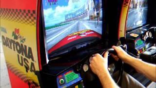 Sega Daytona USA Twin Driving Arcade Machine in Play
