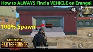 How to ALWAYS FIND A VEHICLE on Erangel + Early Game PRO Vehicle Strategy   PUBG Mobile Lightspeed