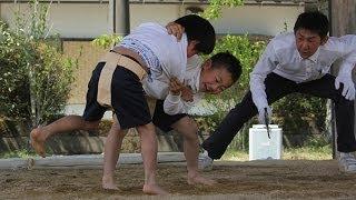 ちびっこ力士が熱戦 名張で「わんぱく相撲」
