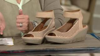 Clarks Artisan Nubuck or Leather Cut-out Wedges - Clarene Prima on QVC