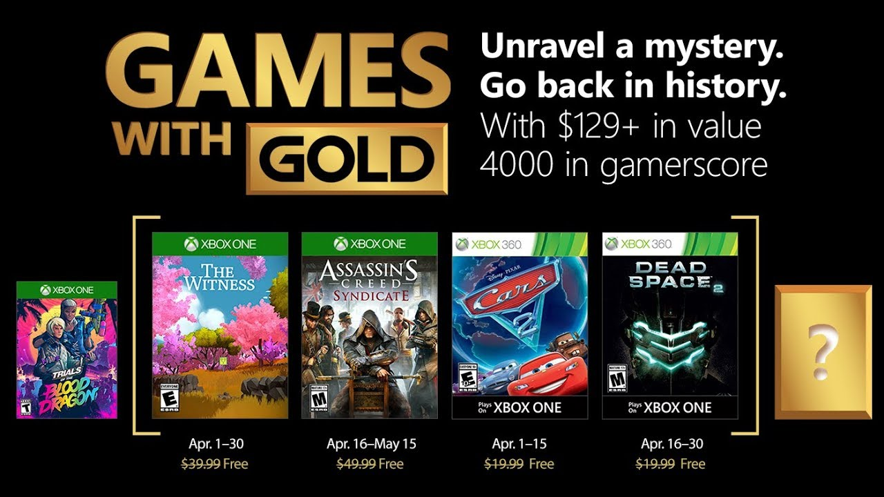 Juegos Con Gold Xbox One Y Xbox 360 Abril 2018 Youtube