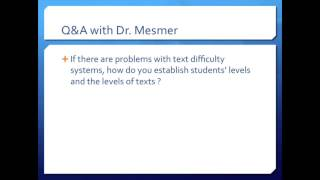 Q&A#1 with Dr. Mesmer: Establishing student