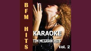 Back When (Originally Performed by Tim Mcgraw) (Karaoke Version)