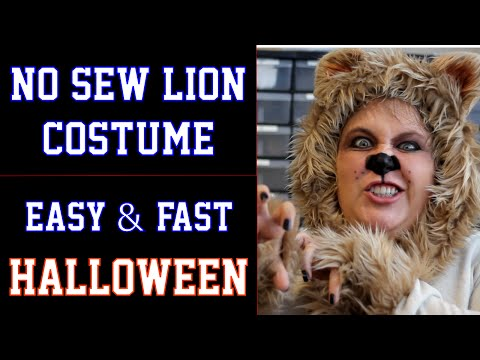 f652c3d95 No Sew Lion Halloween Costume - DIY Fast and Easy (Wizard of Oz - Cowardly  Lion) - YouTube
