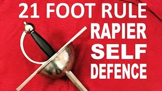 Video 21 Foot Rule - Drawing the Sword for Self Defence - Rapier download MP3, 3GP, MP4, WEBM, AVI, FLV April 2018