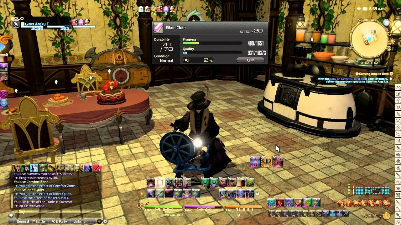 FFXIV Heavensward: 3 ☆ Crafting Specialist Rotation
