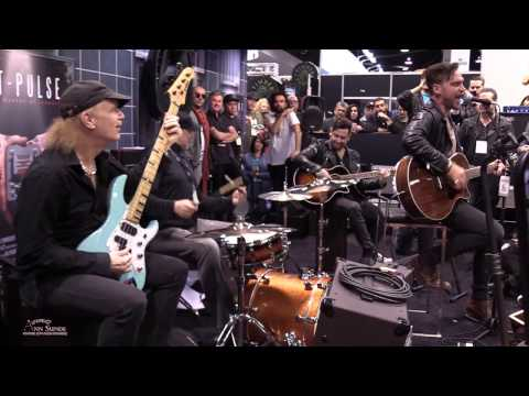 NAMM The Fell BILLY SHEEHAN, RANDY COOKE, TOBY RAND, MIKE KROMPASS