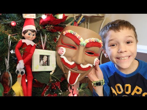 Elf on the Shelf Found the Gingerbread Mans Mask!  Another Secret Mystery Lock Unlocked!