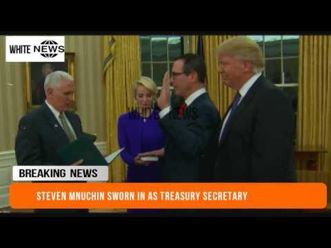Steven Mnuchin sworn in as treasury secretary