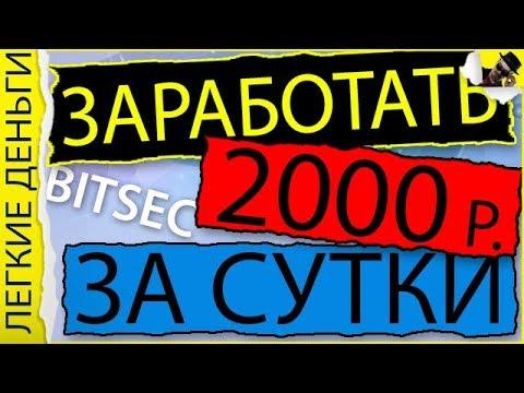 КАК ЗАРАБОТАТЬ 2000 РУБЛЕЙ ЗА СУТКИ В BITSEC / ЗАРАБОТОК В ИНТЕРНЕТЕ