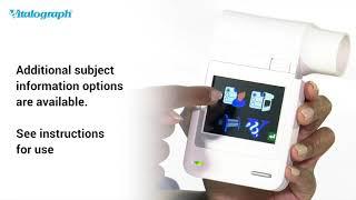 micro BT Smart - Vitalograph Telehealth Solutions. Demonstrating the Vitalograph micro BT Smart.