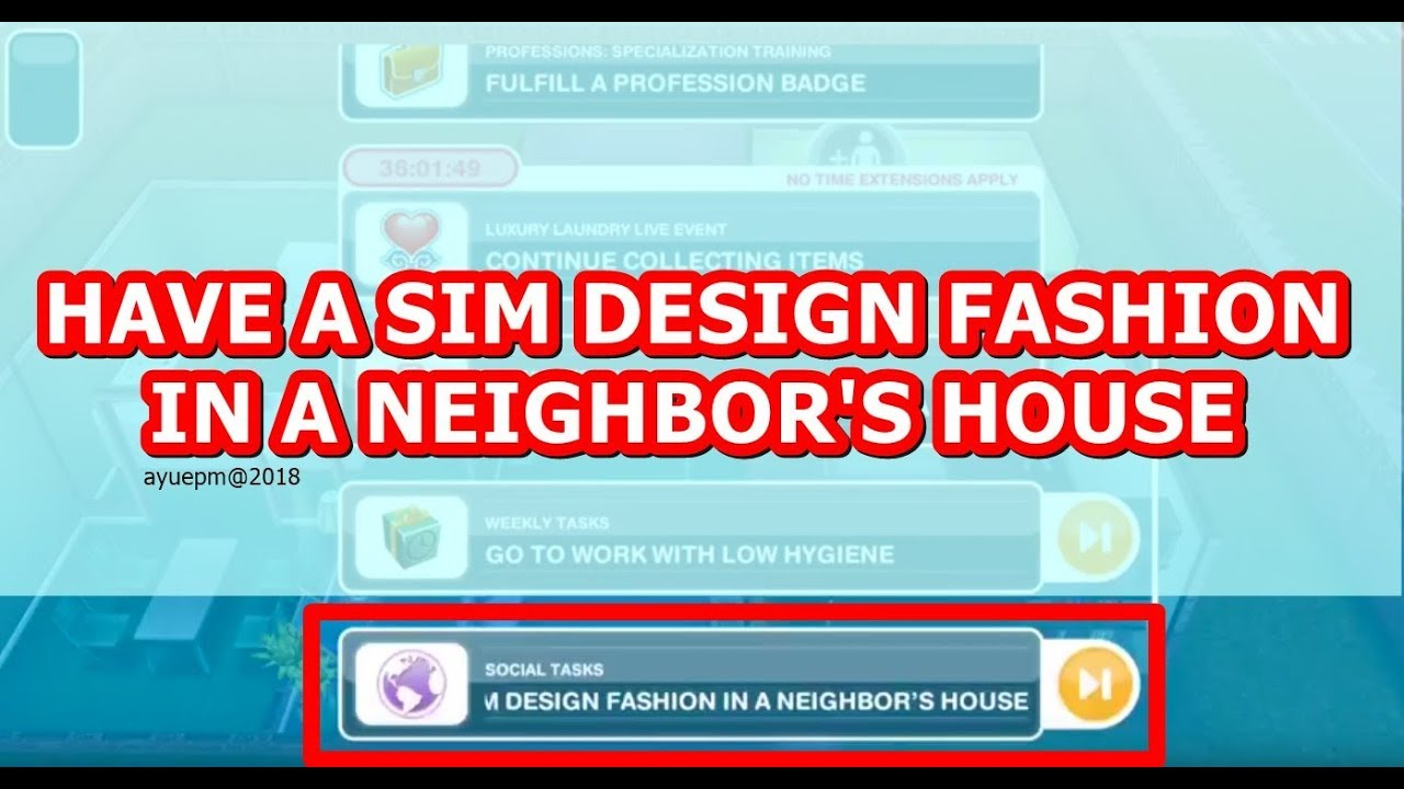 The Sims Freeplay Design Fashion In A Neighbor S House Youtube