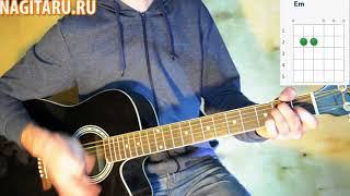 """Военная - """"Катюша"""", на простых аккордах в Em, на гитаре"""