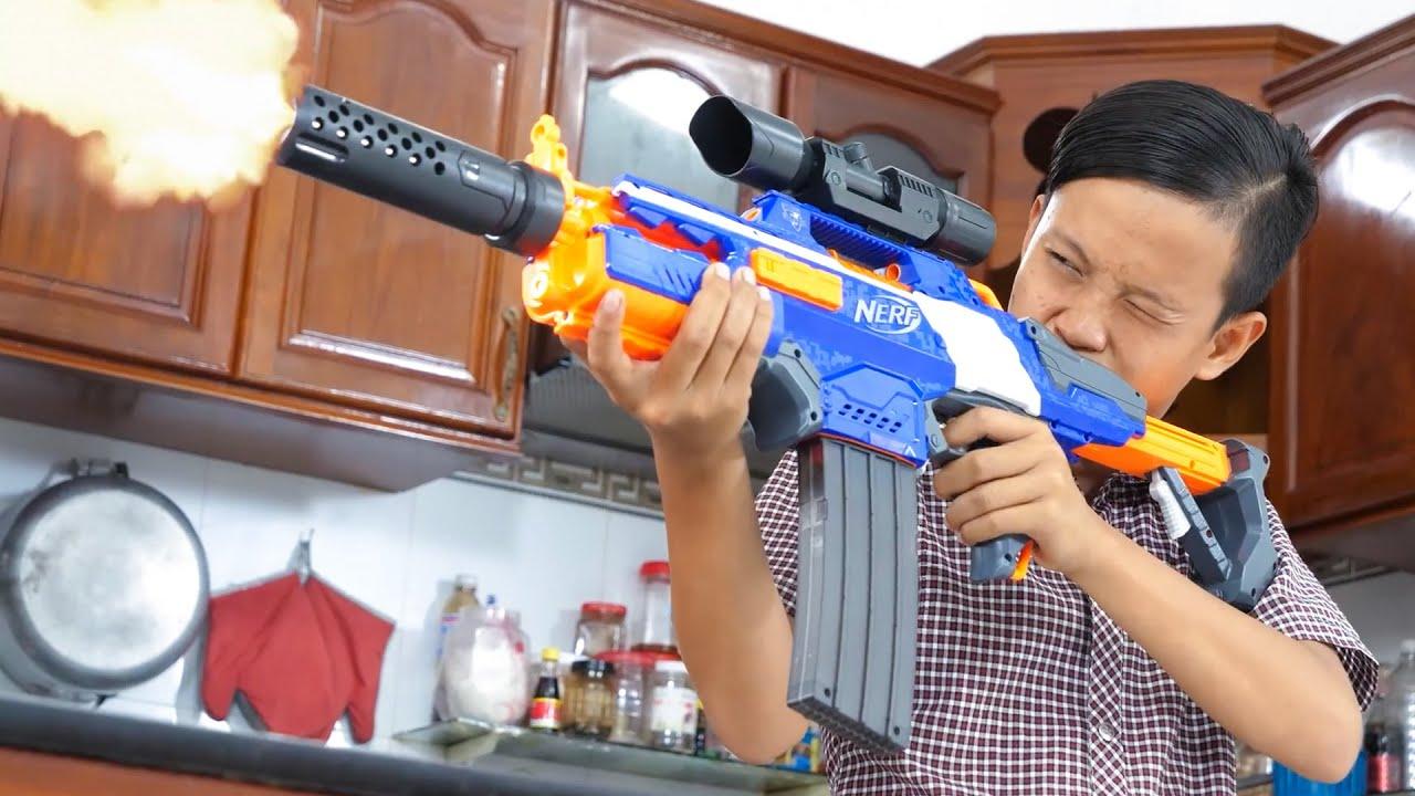 NERF WAR GUN VS GUN BATTLE