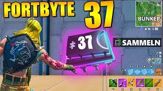 Fortnite Fortbyte 37 ⚠️ Vault Shelter | All Fortbyte Places Season 9 Utopia Skin English