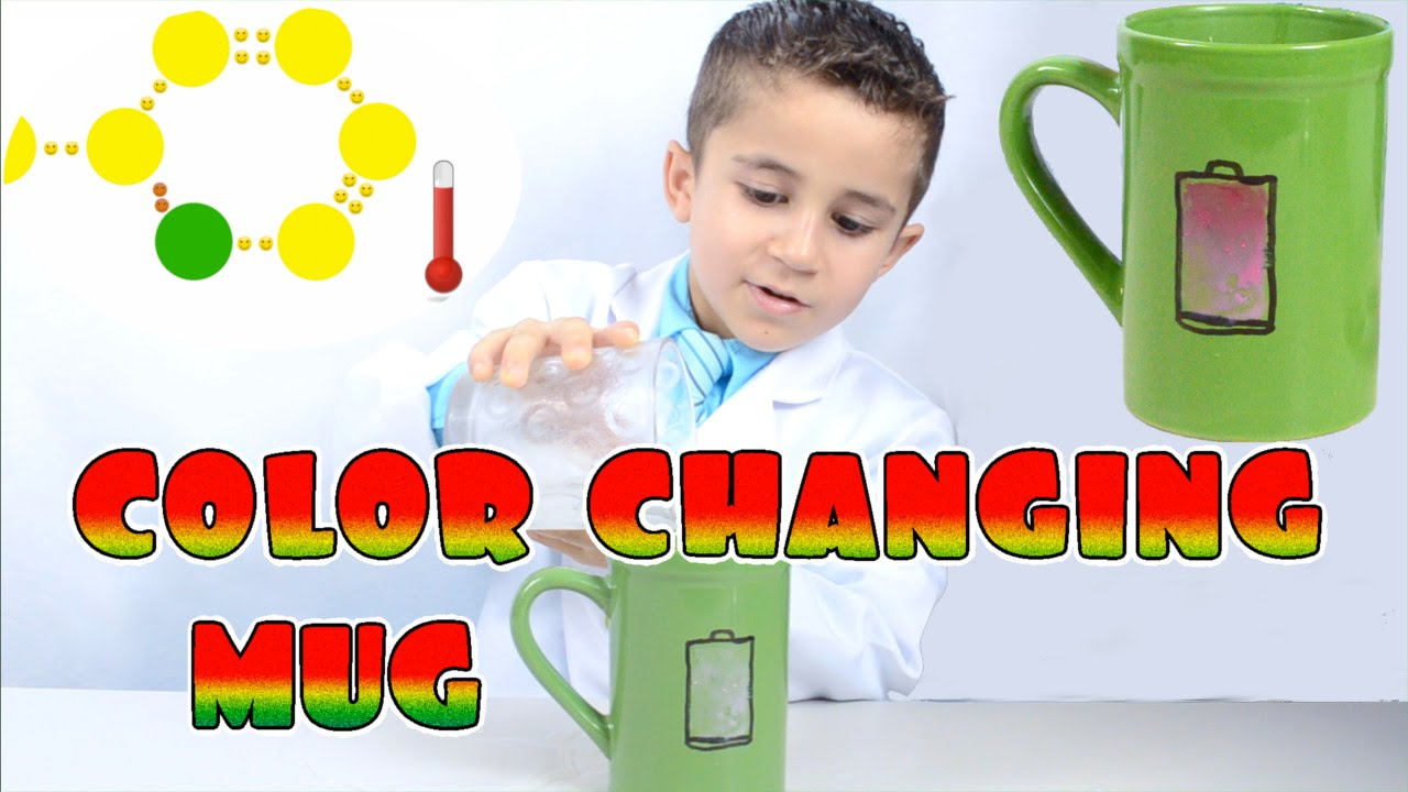 How To Make a Color Changing Magic Mug - Kid Science | Thermochromic ...