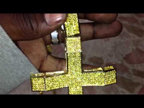 Xxl yellow cross & 360 tennis chain