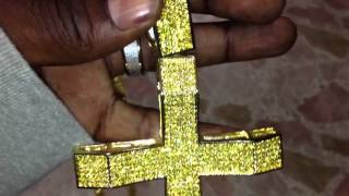 Xxl yellow cross & 360 tennis chain