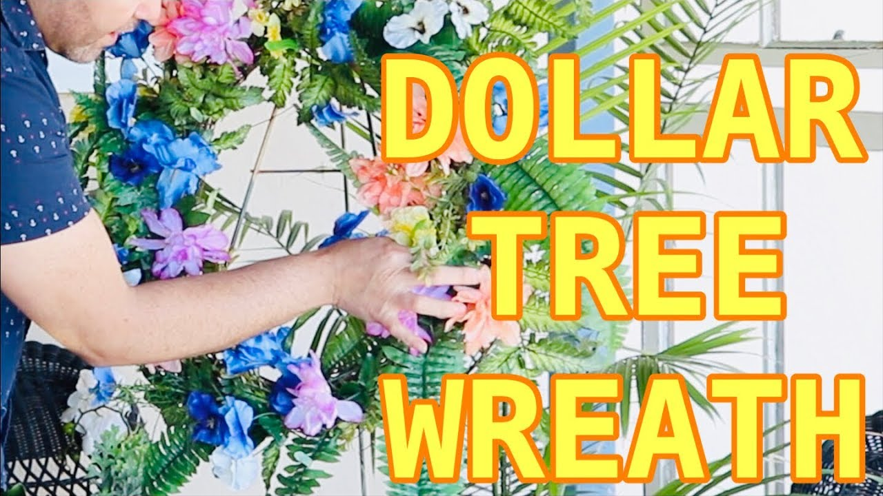 Making A Gorgeous Spring Wreath Using All Dollar Tree Flowers