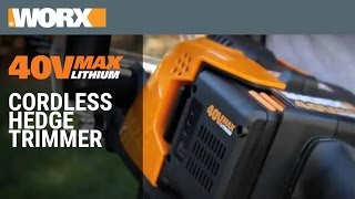 WORX 40V MaxLithium Hedge Trimmer