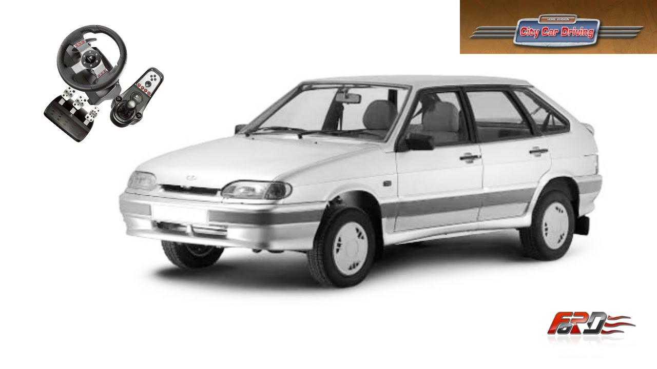 ВАЗ 2114, Lada Granta   тест драйв, обзор популярные российские автомобили City Car Driving АРХИВ
