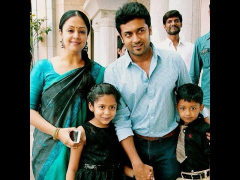 Tamil Actor Surya and Jyothika Family...