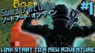 LINK START TO A NEW UPDATED ADVENTURE! | Sword Craft Online (Minecraft Server) - Episode 1