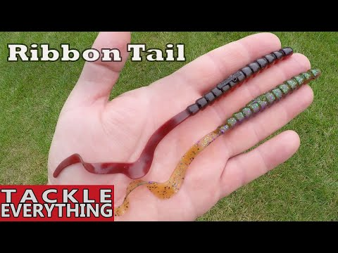 Multiple Ways To Rig Ribbon Tail Worms - Bass Fishing With Worms (Fish Catches)