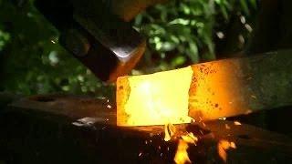 Forja de hachuela de comienzo a fin / forge a small axe