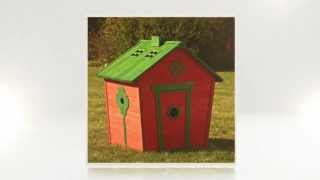 Wooden Kids Playhouse -- The Safest Fun Ever!