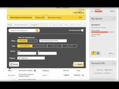 Download Bank Transactions CBA