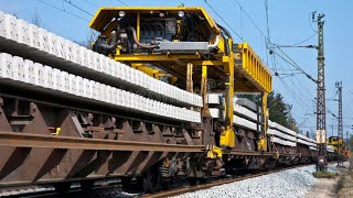 This Modern Railway Construction Method is Very INCREDIBLE, Amazing Construction Equipment Machines
